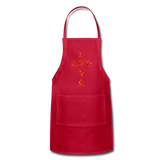 God Adjustable Apron - red