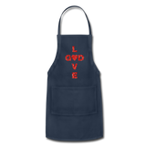 God Adjustable Apron - navy