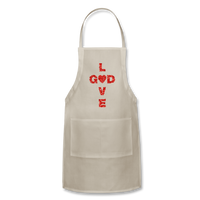 God Adjustable Apron - natural