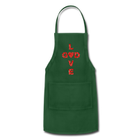 God Adjustable Apron - forest green
