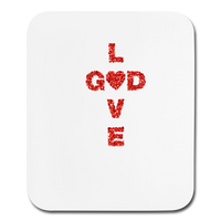 God Mouse pad Vertical - white