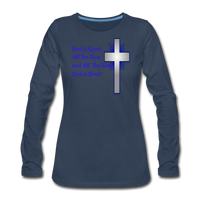 God Is Good Women's Premium Long Sleeve T-Shirt - navy