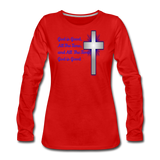 God Is Good Women's Premium Long Sleeve T-Shirt - red