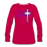 God Is Good Women's Premium Long Sleeve T-Shirt - dark pink