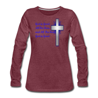 God Is Good Women's Premium Long Sleeve T-Shirt - heather burgundy