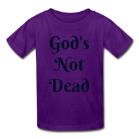 God's Not Dead Kids' T-Shirt - purple