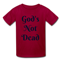 God's Not Dead Kids' T-Shirt - dark red