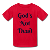 God's Not Dead Kids' T-Shirt - red