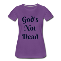 God's Not Dead Women's Premium T-Shirt - purple