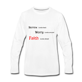 Faith Men's Premium Long Sleeve T-Shirt - white