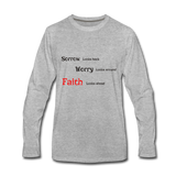 Faith Men's Premium Long Sleeve T-Shirt - heather gray