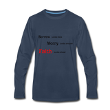 Faith Men's Premium Long Sleeve T-Shirt - navy