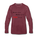 Faith Men's Premium Long Sleeve T-Shirt - heather burgundy