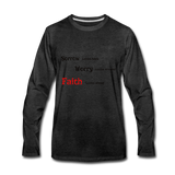 Faith Men's Premium Long Sleeve T-Shirt - charcoal gray