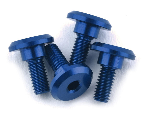 Servo Mounting Screws 4.2mm Neck M3x6mm Thread Blue (4)