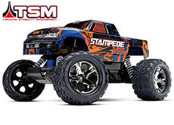 Stampede® VXL:  1/10 Scale Monster Truck with TQi Traxxas Link™ Enabled 2.4GHz Radio System & Traxxas Stability Management (TSM)®