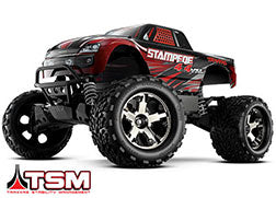 Stampede® 4X4 VXL: 1/10 Scale Monster Truck with TQi Traxxas Link™ Enabled 2.4GHz Radio System & Traxxas Stability Management (TSM)®