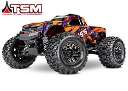 Hoss™ 4X4 VXL: 1/10 Scale Monster Truck with TQi Traxxas Link™ Enabled 2.4GHz Radio System & Traxxas Stability Management (TSM)®