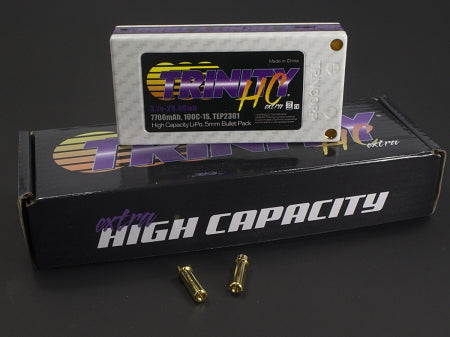 1S 3.7v 7700mah 100C High Capacity Pack with 5MM Bullets