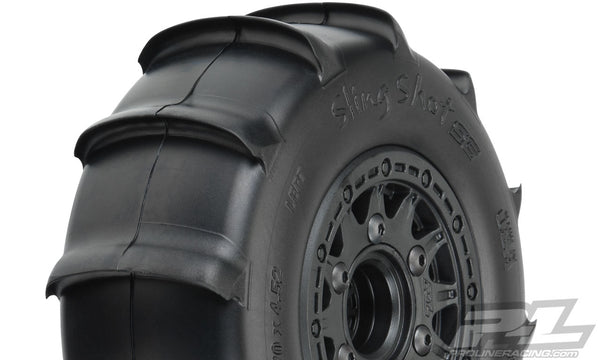 "Sling Shot SC 2.2/3.0"" Sand Tires, Mounted on Raid Black"