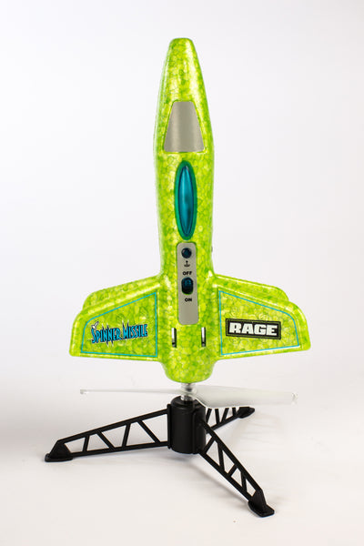 Spinner Missile - Green Electric Free-Flight Rocket