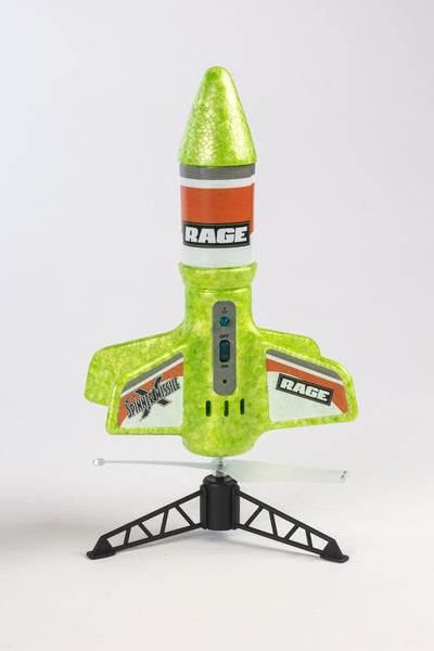 Spinner Missile X - Green Electric Free-Flight Rocket
