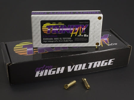1S 3.7v 6500mah 100c High Voltage Pack with 5MM Bullets