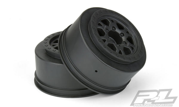 Impulse 2.2/3.0in Black Wheels for Slash 2WD Rear/4x4 F/R (2)