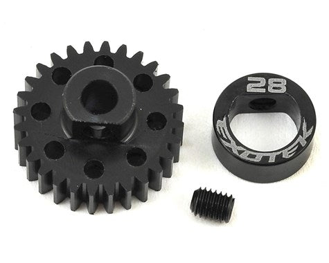 Flite 28t 48p Pinion Black Pom with Alloy Collar