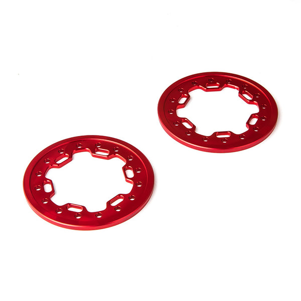 1.9 Aluminum Ring Beadlock Ring CL (Red) (2): GOM