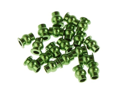 Green Aluminum Hollow Ball Set (20) for AX10, SCX10