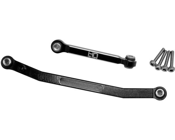 Black Aluminum Fix Link Tight Tolerance Steering Rod, SCX24