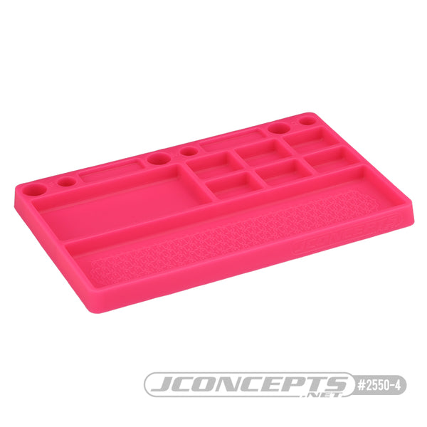 JConcepts parts tray, rubber material - pink