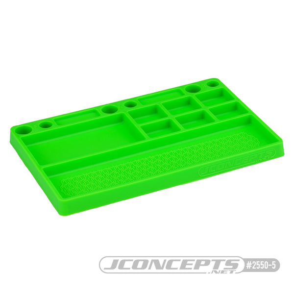 JConcepts parts tray, rubber material - green
