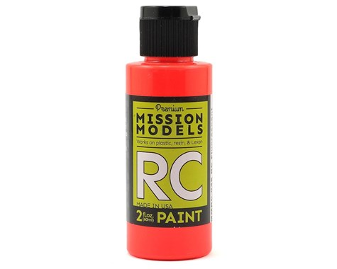 RC Paint 2 oz bottle Fluorescent Racing Red