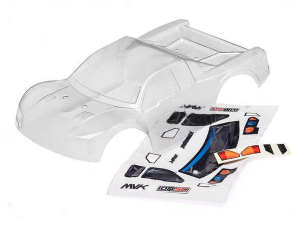 CLEAR SHORT COURSE BODY WITH DECALS (ION SC)