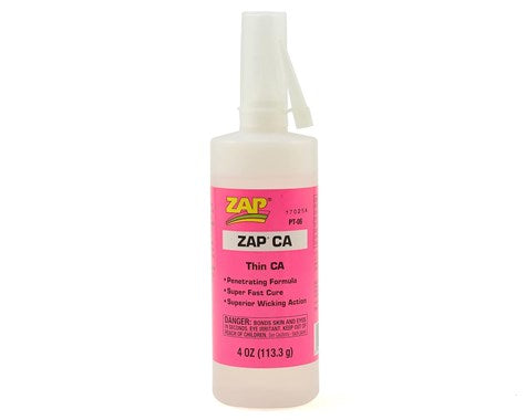 Zap CA Glue 4oz Bottle
