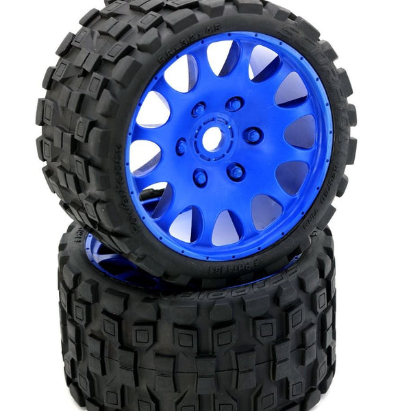 Powerhobby Scorpion Belted Monster Truck Tires / Wheels w