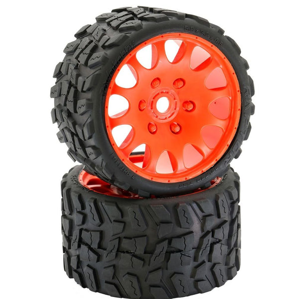 Powerhobby Raptor Belted Monster Truck Tires / Wheels w