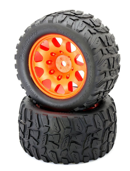 Powerhobby Raptor XL Belted Tires / Viper Wheels (2)