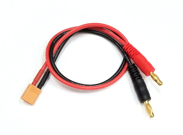 Charger Adapter: M XT30 To M 4mm Bullets- 300mm Wire