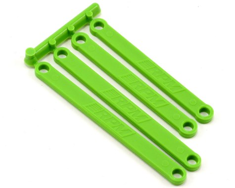 HEAVY DUTY CAMBER LINKS FOR E-RUSTLER & E-STAMPEDE - GREEN