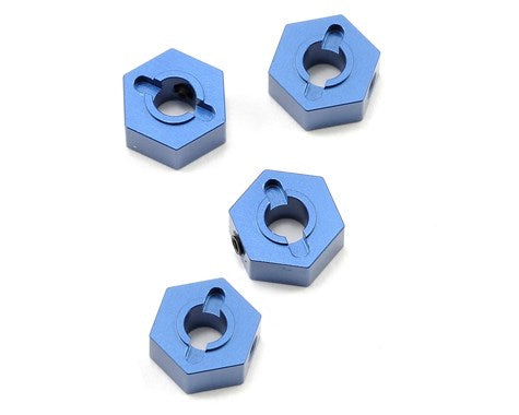 ALUMINUM HEX ADAPTERS FOR SLASH 4X4 (BLUE)