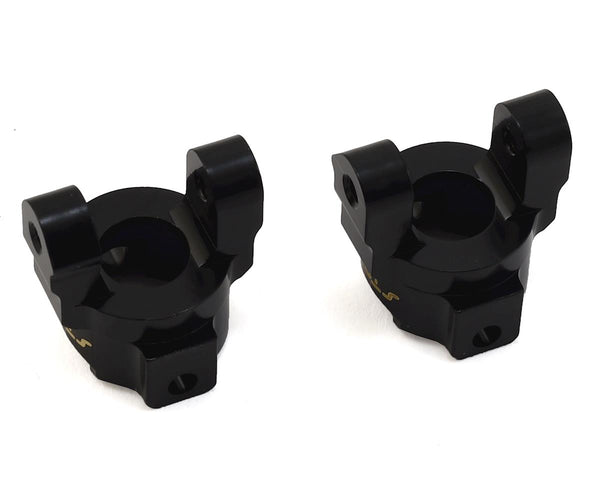 Brass Front C-Hub Carriers, for Venture, Black, (2pcs)