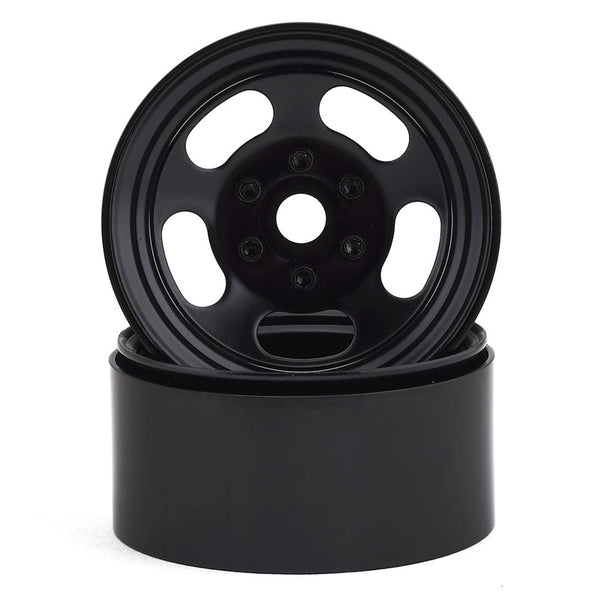 "1.9"" Steel Slot Beadlock Wheels (Black)"