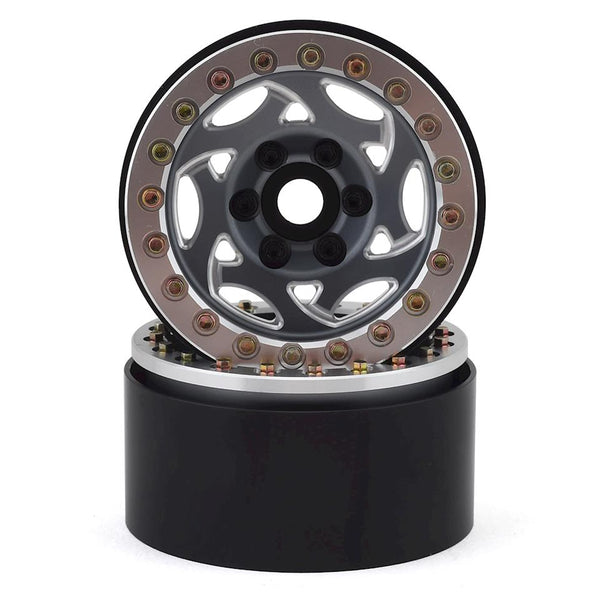 "1.9"" Champion Beadlock Wheels (Grey/Silver)"