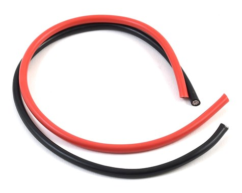 10 Gauge Super Flexible Wire - 1' ea. Black and Red