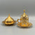 Traditional Gold Color Turkish Coffee Set for 6
