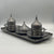 Traditional Antique Silver Turkish Coffee Set for 2