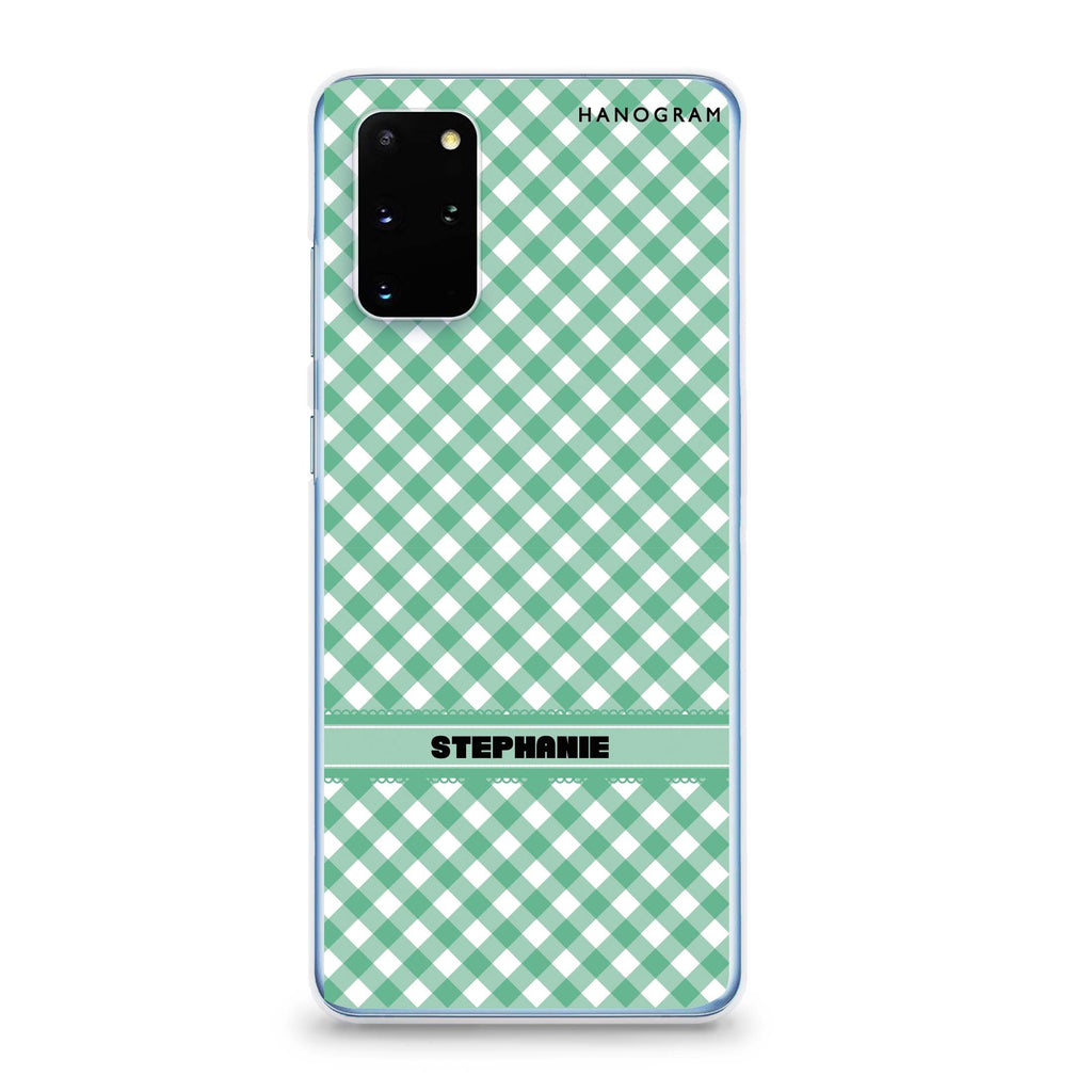 Lovely Green Samsung S20 Plus 透明軟保護殻
